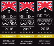 Gold Winner of the British Property Awards 2016, 2017 & 2018